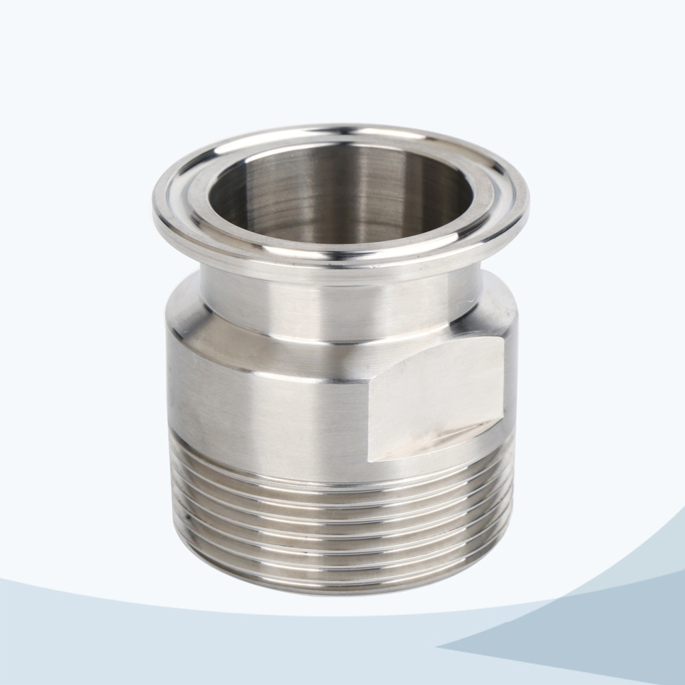 stainless steel food grade hex male threading nipple