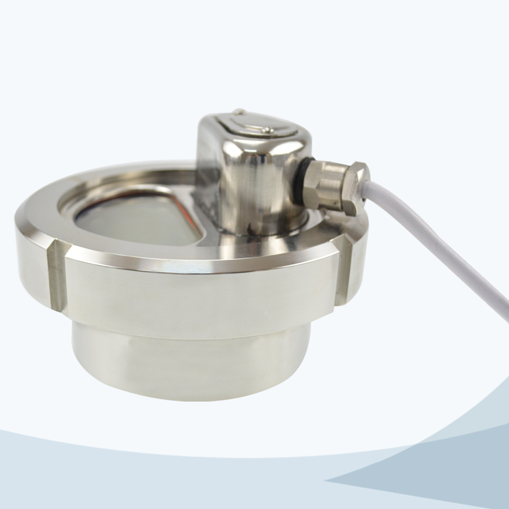 stainless steel food processing sight glass with LED light