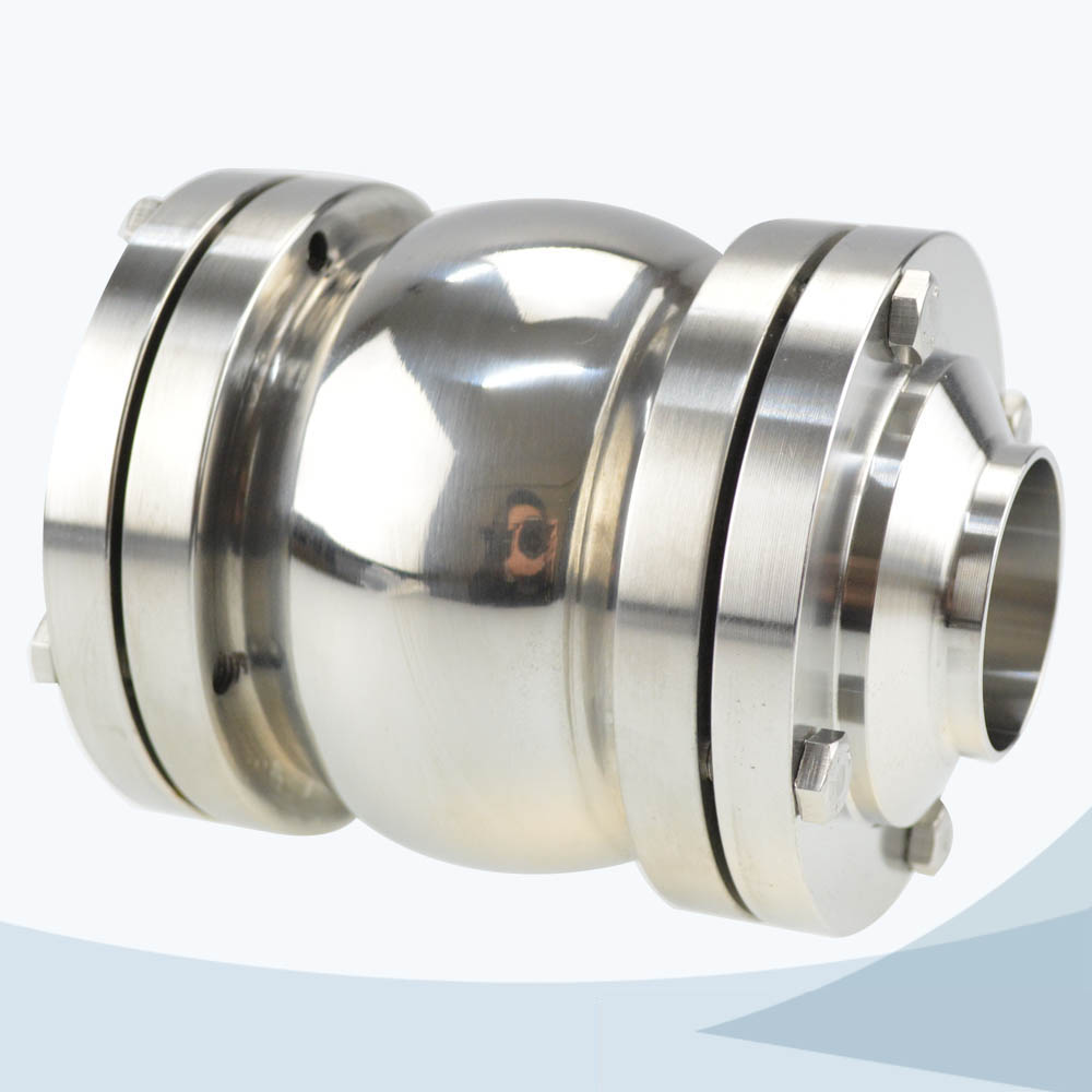 stainless steel sanitary grade ball type NRV check valve