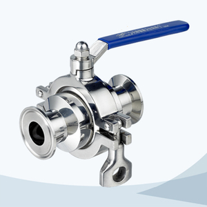 stainless steel food equipment clamped manual non retention ball valve