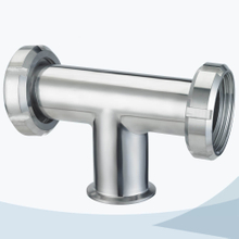 stainless steel hygienic grade male-union type equal tee
