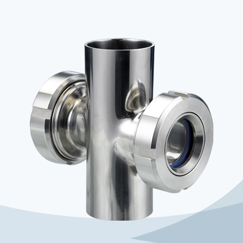 stainless steel food grade cross type sight glass