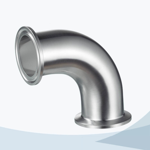 stainless steel food processing tri-clamp 90d elbow pipe fitting