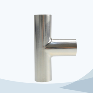 stainless steel hygienic grade butt weld equal tee