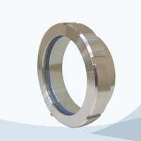Sanitary welded union type sight glass