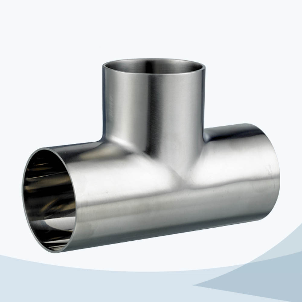 stainless steel food equipment 7W butt weld equal tee