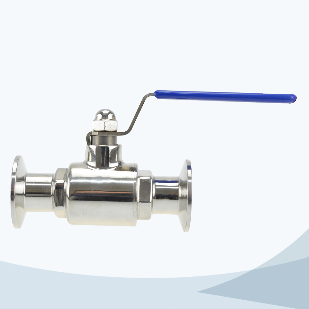 stainless steel food processing manual type tri-clamped ball valve