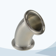 stainless steel sanitary 45D clamped elbow