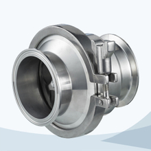 stainless steel hygienic grade clamped middle-clamp NRV check valve