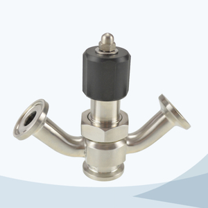 stainless steel hygienic grade diaphragm sampling cock valve