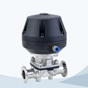 stainless steel food processing tri-clamped aluninum pneumatic diaphragm valve