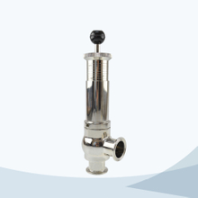 stainless steel food processing line type pressure safety valve with scale