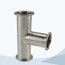stainless steel hygienic grade clamped equal tee
