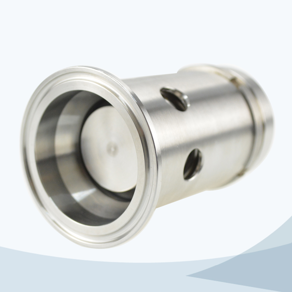 stainless steel food equipment line type pressure safety valve with scale