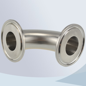 stainless steel food processing 2CMP tri-clamp 90d bend