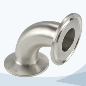 stainless steel hygienic tri-clamped 90D elbow
