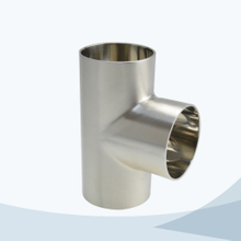 stainless steel hygienic grade welded equal tee
