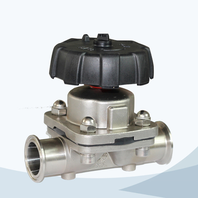 stainless steel food grade manual type high precision casting diaphragm valve