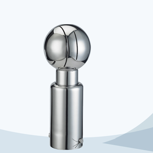 Sanitary pin connection rotary round cleaning ball
