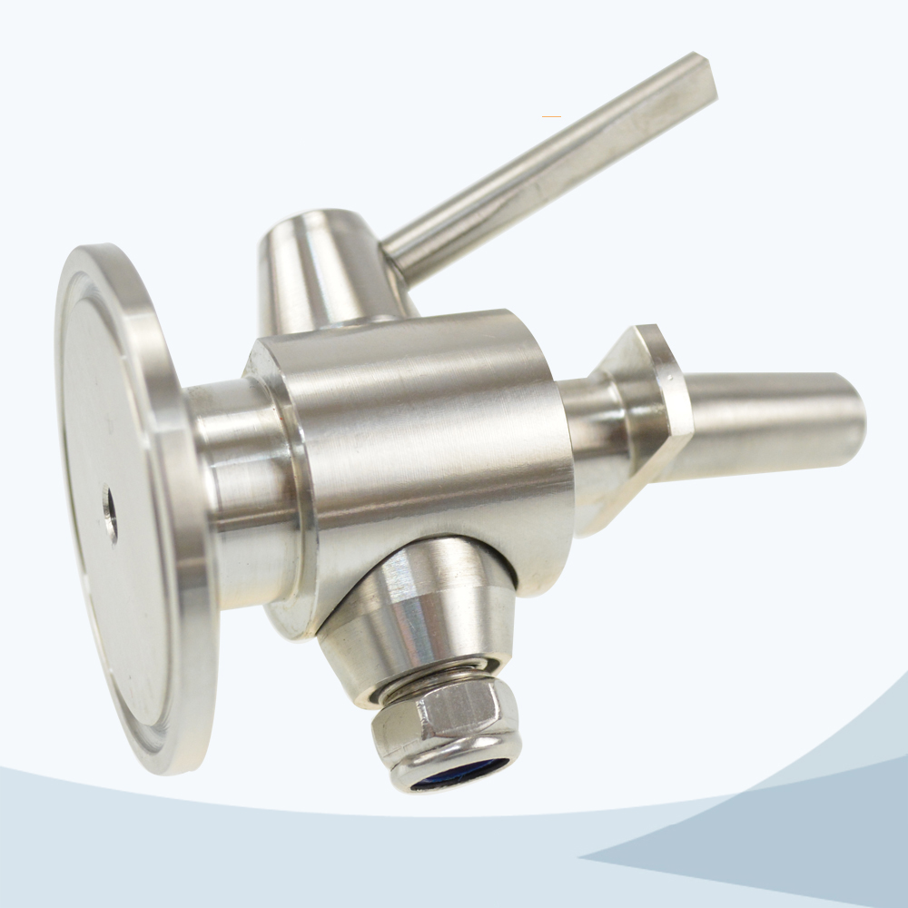 stainless steel food processing beer sampling valve