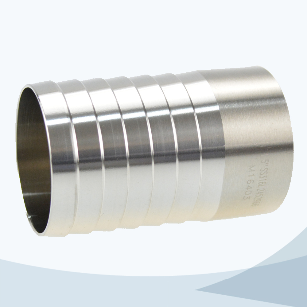 stainless steel food grade welded hose barb