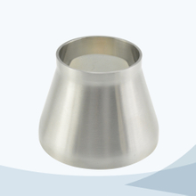 stainless steel hygienic grade welded concentric reducer with straight end