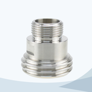 stainless steel food equipment male threading adaptor