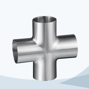 stainless steel hygienic grade welded equal cross