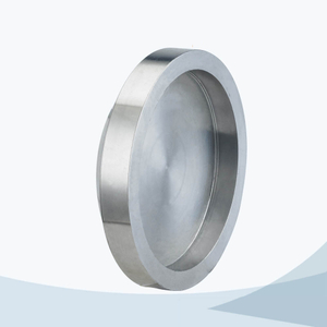stainless steel hygienic grade female solid end cap