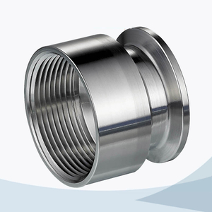stainless steel hygienic grade triclover NPT adaptor