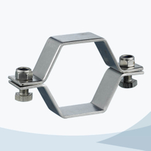 stainless steel food grade TH2 hex pipe support without pipe