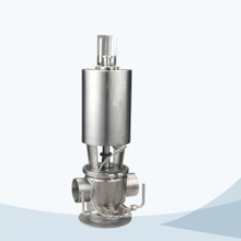 stainless steel food processing single seat mixproof valve