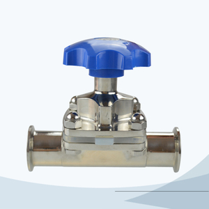 stainless steel hygienic manual type clamped diaphragm valve